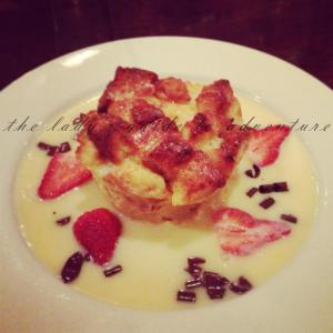 reminder to myself: make delicious bread pudding from scratch in very near future- then post about it!