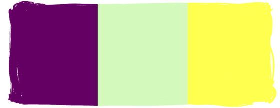 purple is her favorite- the pastel greem and bright yellow will accent her shower!