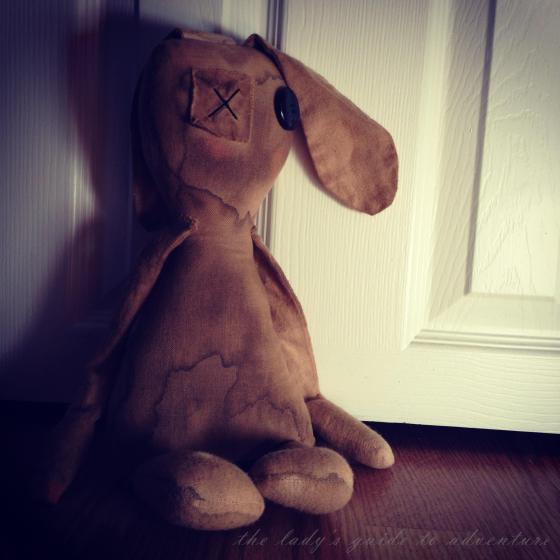 primitive bunny, prims, prim dolls, extreme prims, arts and crafts, creepy, one-eyed creature