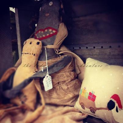 primitive dolls, prims, arts and crafts, flea market finds, extreme prims, midwest living