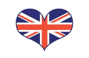 british flag in heart shape