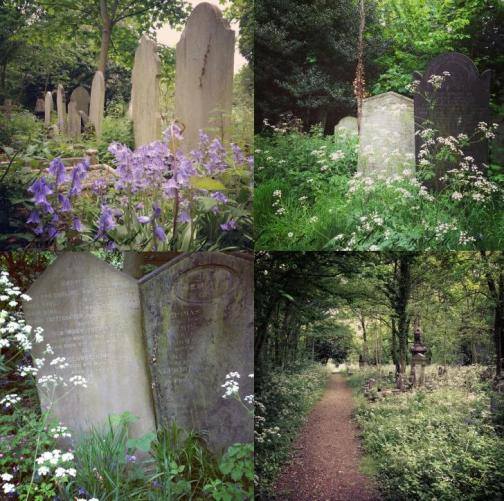 cemetery in london, beautiful cemetery, gravestones, tower hamlets, east london