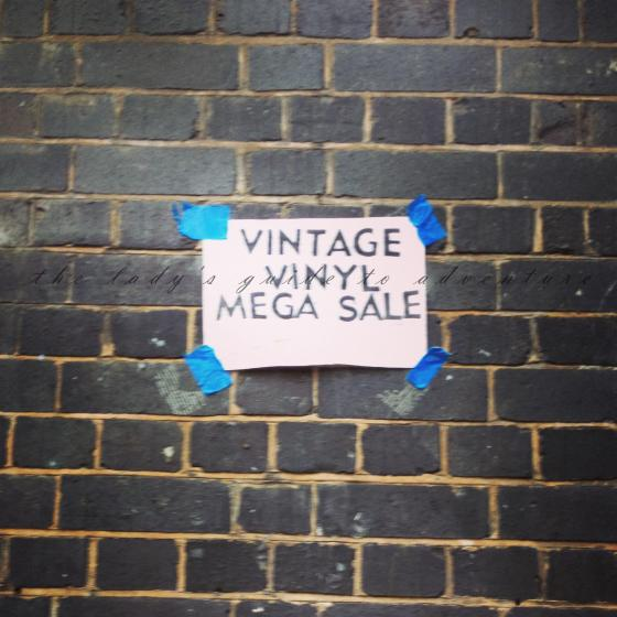 vinyl sale in london, brick lane