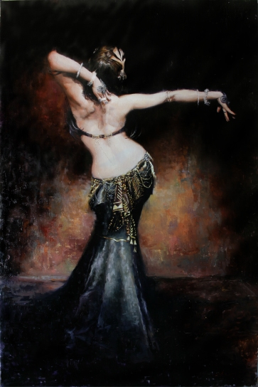 el duende, beautiful painting, lovely hips, dancer, matt abraxas, sexy, gorgeous girl, having soul