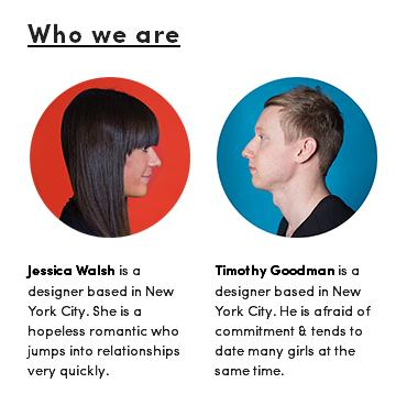 timothy goodman, jessica walsh, 40 days of dating, who we are