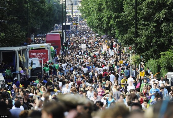 notting hill carnival, crowds