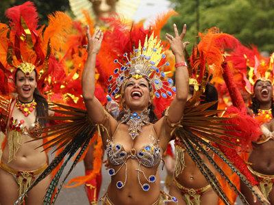dancing girl at notting hill carnival