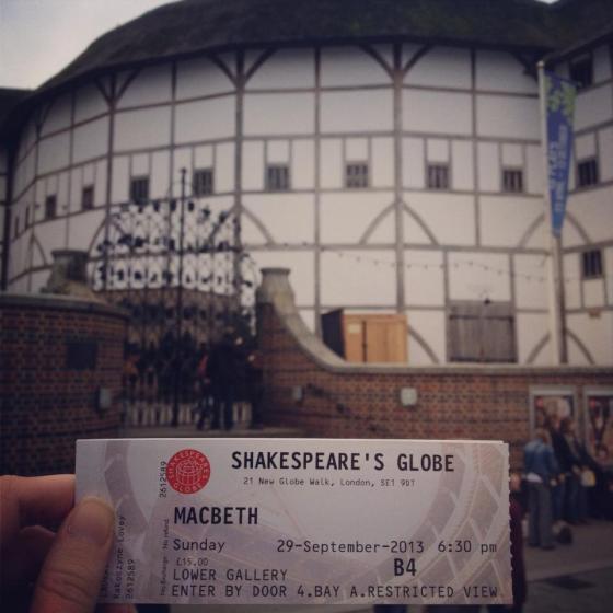 the globe, shakespeare, macbeth
