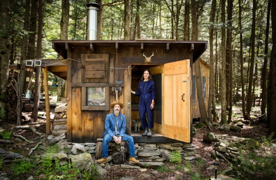 backyard bill, bryan purcell, cabin in the woods, simple living, easy living, couple in their cabin, lauren manoogain