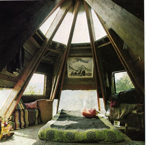 handmade houses, little cabins, homemade house, beautiful interior, lots of natural lights, beautiful design, 70's house book,