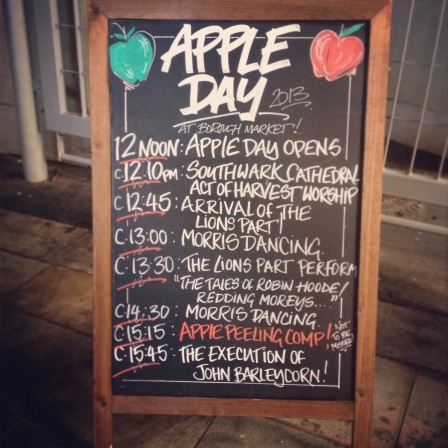 apple day itinerary, apple day in borough market, the lions part, southwark apples, october 20