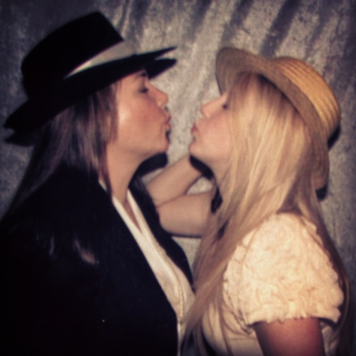 mother and daughter, blonde hair, girls in hats, wasteland, kisses, my momma and me, at a wedding, photobooth, the ladys guide to adventure