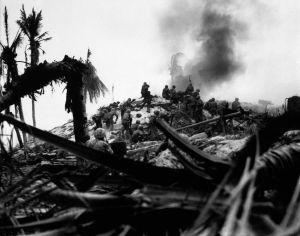 battle of tarawa, kiribati islands, black and white photography, battle, world war II