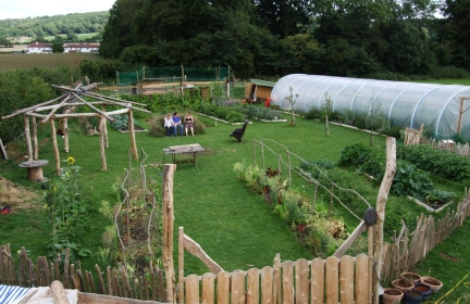 green feasts, food production, sustainability, small farms, chelvey, aerial view, borrowed image, garden,
