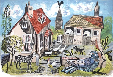 mark hearld, st jude, smallholding, farm, sustainability, illustration, chickens