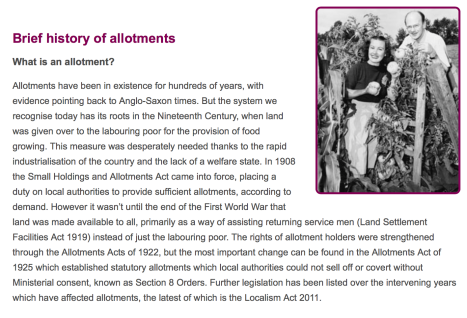 history of allotments, allotment society, gardening, sustainability, urban farming, city life, history of allotments