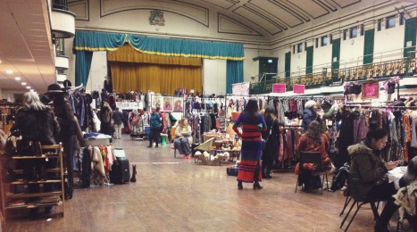judy's vintage fair, vintage clothes, style, things to do in london, bethnal green, vintage fair, old theaters, retro furniture, london neighborhoods, uk vintage, fashion, old suitcase