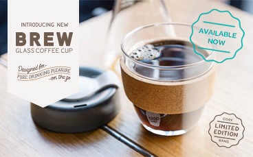 keepcup, glass keepcup, keeping things out of the landfill, most coffee cups are not recyclable, cork, limited edition cork, barista quality, coffee every day, i love coffee, saving the planet
