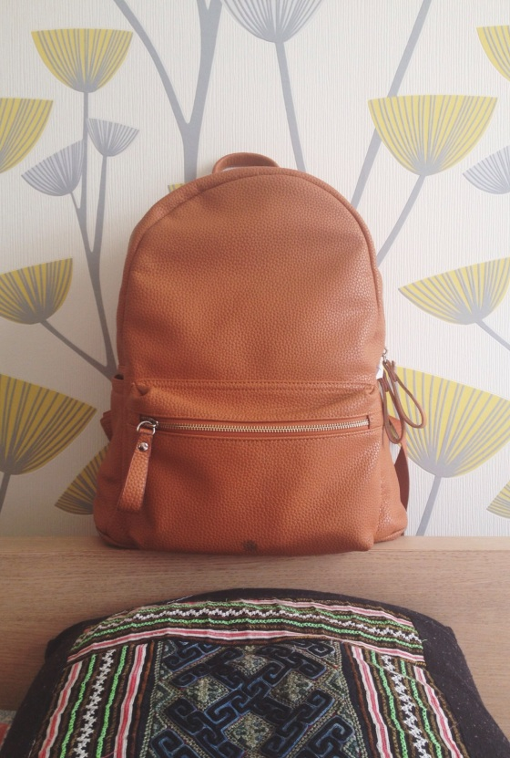 orange backpack, burnt orange, so many colors, beautiful, floral pattern, pretty wallpaper, design, floral wallpaper, pillow from vietnam