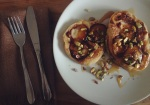 plum and pistachio pancakes, making pancakes, pancake recipe, american pancakes, always use buttermilk, pistachio pieces, plum and pistachio, fun pancake recipe, happy pancake day