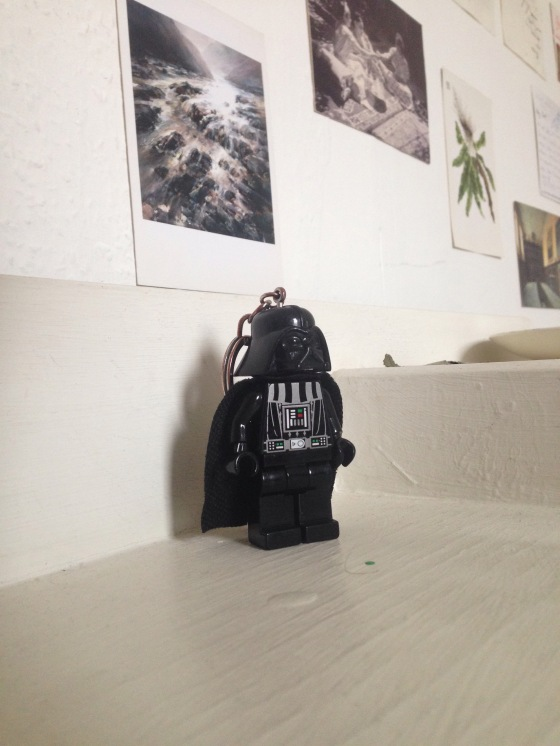 darth vader, overlooking my room, decorations, found in a bar, where did you come from, star wars, little sith lord